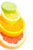 Composición de las frutas brillantes Fotos de archivo