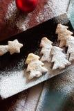 Composición de las galletas de la Navidad Imagen de archivo