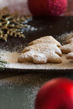 Composición de las galletas de la Navidad Fotografía de archivo