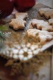 Composición de las galletas de la Navidad Foto de archivo libre de regalías