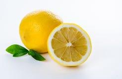 composición de las hojas del limón y de menta Fotos de archivo libres de regalías