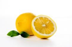 composición de las hojas del limón y de menta Fotografía de archivo libre de regalías