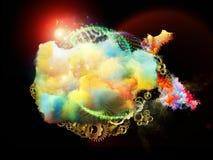 Composición de las nebulosas del diseño Fotos de archivo