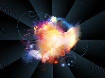 Composición de las nebulosas del diseño Foto de archivo