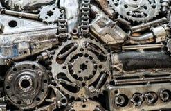 Composición de las piezas de metal envejecidas Imagen de archivo libre de regalías