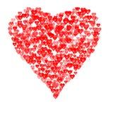 Composición de las tarjetas del día de San Valentín de los corazones. ilustración del vector
