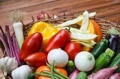 Composición de las verduras Foto de archivo libre de regalías