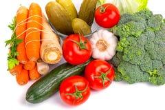 Composición de verduras frescas Imagen de archivo libre de regalías