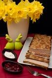 Composición de los alimentos de la coronilla de Pascua Imagen de archivo