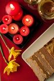 Composición de los alimentos de la coronilla de Pascua Foto de archivo