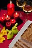 Composición de los alimentos de la coronilla de Pascua Imagen de archivo libre de regalías