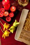 Composición de los alimentos de la coronilla de Pascua Imagenes de archivo
