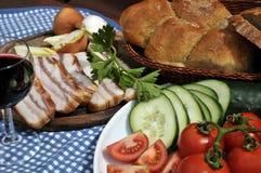 Composición de los alimentos en estilo de país Imagen de archivo libre de regalías