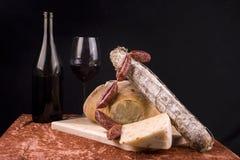 Composición de los alimentos italiana Fotografía de archivo libre de regalías