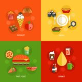 Composición de los alimentos plana Fotografía de archivo libre de regalías