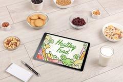 Composición de los alimentos sana fotografía de archivo