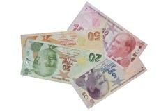 Composición de los billetes de banco de la lira turca Imágenes de archivo libres de regalías