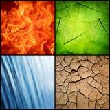 Composición de los cuatro elementos naturales Foto de archivo