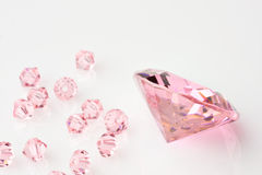 Composición de los diamantes Foto de archivo