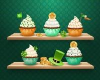 Composición de los dulces del día de Patricks del santo Imágenes de archivo libres de regalías
