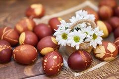 Composición de los huevos de Pascua Imagen de archivo libre de regalías