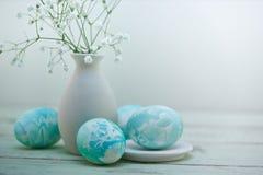 Composición de los huevos de Pascua Imágenes de archivo libres de regalías