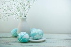 Composición de los huevos de Pascua Fotos de archivo
