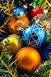 Composición de los juguetes de la Navidad Foto de archivo