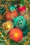 Composición de los juguetes de la Navidad Fotografía de archivo libre de regalías