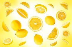 Composición de los limones Imágenes de archivo libres de regalías