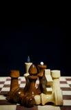 Composición de los pedazos de ajedrez Imagen de archivo libre de regalías