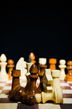Composición de los pedazos de ajedrez Imágenes de archivo libres de regalías