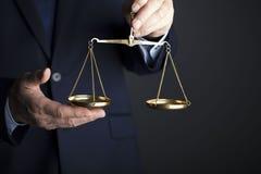 Composición de los símbolos de la ley y de la justicia Fotos de archivo libres de regalías