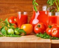 Composición de los tomates Imagen de archivo