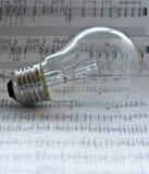Composición de música Foto de archivo libre de regalías