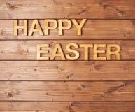 Composición de madera de la letra de Pascua Imagen de archivo