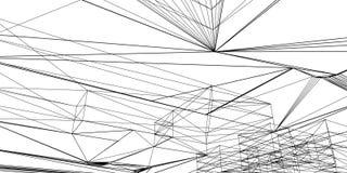 Composición de papel poligonal del dibujo del vector abstracto en un fondo blanco stock de ilustración