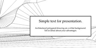 Composición de papel poligonal del dibujo del vector abstracto en un fondo blanco Fotos de archivo