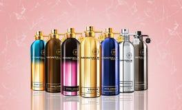 Composición de Parfum Fotos de archivo libres de regalías