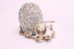 Composición de Pascua con los huevos de codornices imagen de archivo libre de regalías