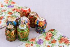 Composición de pascua del ornamento de los huevos Fotografía de archivo