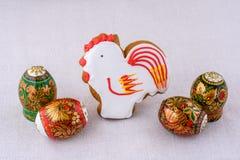Composición de Pascua del palillo Foto de archivo libre de regalías