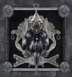 Composición de plata del cráneo Imágenes de archivo libres de regalías