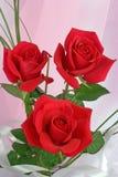 Composición de rosas rojas Imágenes de archivo libres de regalías