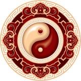 Composición de Yin Yang stock de ilustración