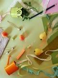 Composición decorativa de frutas, decoración, verdes del otoño Foto de archivo libre de regalías