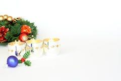 Composición decorativa de la Navidad fotografía de archivo