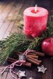 Composición decorativa de la Navidad Foto de archivo