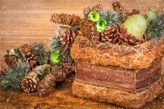 Composición decorativa de la Navidad Imágenes de archivo libres de regalías