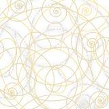 Composición decorativa de los espirales Imagenes de archivo